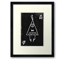 Bill Cipher print  Framed Print
