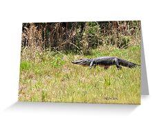 Gator Walking Greeting Card