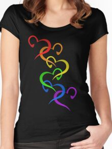Hearts of PRIDE Women's Fitted Scoop T-Shirt