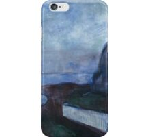 Edvard Munch - Starry Night. Munch - seashore landscape. iPhone Case/Skin
