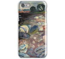 Edvard Munch - Shore With Red House. Munch - seashore landscape. iPhone Case/Skin