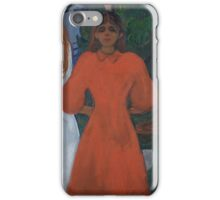 Edvard Munch - Red And White. Munch - woman portrait. iPhone Case/Skin