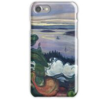 Edvard Munch - Train Smoke. Munch - lake landscape. iPhone Case/Skin