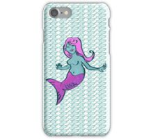 Jewel Mermaid with scale pattern iPhone Case/Skin