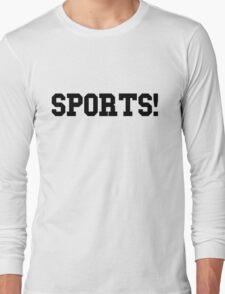 Sports - version 1 - black Long Sleeve T-Shirt