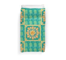 Yellow rose bud Duvet Cover