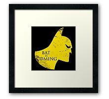 Bat is Coming Framed Print
