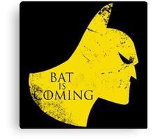 Bat is Coming Canvas Print