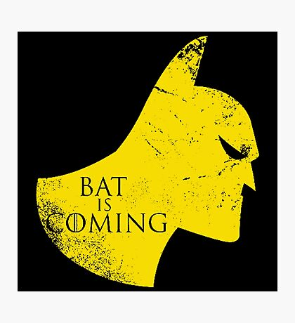 Bat is Coming Photographic Print