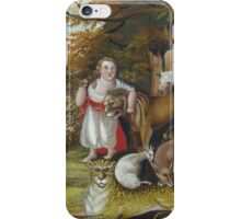 Edward Hicks - Peaceable Kingdom. Hicks - animals. iPhone Case/Skin