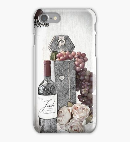Sketching a Wine Tasting Evening iPhone Case/Skin