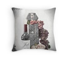 Sketching a Wine Tasting Evening Throw Pillow