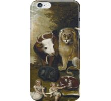 Edward Hicks - The Peaceable Kingdom. Hicks  iPhone Case/Skin