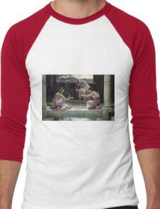 Edward Poynter - When The World Was Young 1891. Poynter - woman portrait. Men's Baseball ¾ T-Shirt