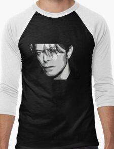 Black and White Vector Portrait of a music legend Men's Baseball ¾ T-Shirt