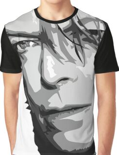 Black and White Vector Portrait of a music legend Graphic T-Shirt