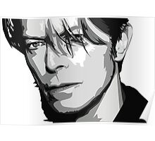 Black and White Vector Portrait of a music legend Poster
