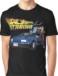 Doctor Who Back The Future Graphic T-Shirt