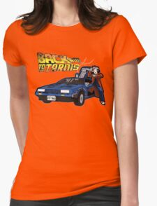 Doctor Who Back The Future Womens Fitted T-Shirt