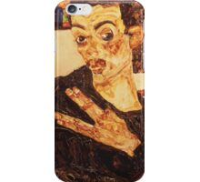 Egon Schiele - Self Portrait. Schiele - man portrait. iPhone Case/Skin