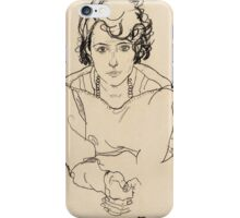 Egon Schiele - Seated Woman. Schiele - woman portrait. iPhone Case/Skin