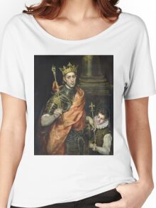 El Greco - St. Louis And His Page. El Greco - man portrait. Women's Relaxed Fit T-Shirt