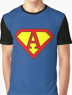 A letter in Superman style Graphic T-Shirt