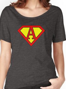 A letter in Superman style Women's Relaxed Fit T-Shirt