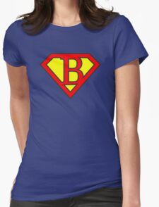 B letter in Superman style Womens Fitted T-Shirt