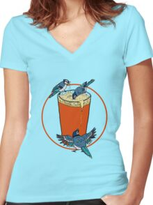 Brew Jays Women's Fitted V-Neck T-Shirt