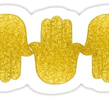 Gold Glitter Hamsas Sticker