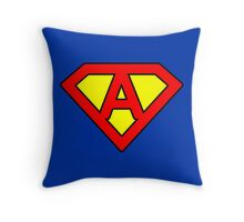 A letter in Superman style Throw Pillow