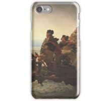 Emanuel Gottlieb Leutze - Washington Crossing The Delaware 1851. Gottlieb Leutze - man portrait. iPhone Case/Skin