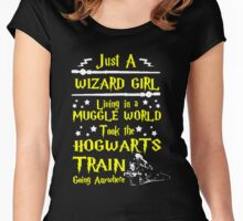 Wizard Girl Women's Fitted Scoop T-Shirt