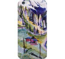 Ernst Ludwig Kirchner - Mountain Landscape.  Kirchner - mountains landscape. iPhone Case/Skin