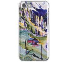 Ernst Ludwig Kirchner - Mountain Landscape.  Kirchner - mountains landscape. iPhone Case/Skin