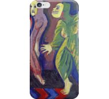 Ernst Ludwig Kirchner - Death Dance Of Mary Wigman.  Kirchner, portrait  dancer. iPhone Case/Skin
