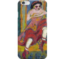 Ernst Ludwig Kirchner - Czardas Dancers.  Kirchner -portrait  dancer. iPhone Case/Skin