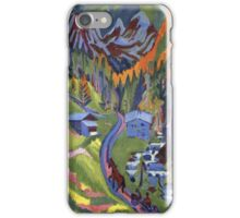 Ernst Ludwig Kirchner - Sertig Path In Summer.  Kirchner - mountains landscape. iPhone Case/Skin