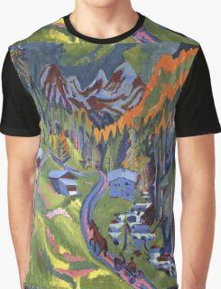 Ernst Ludwig Kirchner - Sertig Path In Summer.  Kirchner - mountains landscape. Graphic T-Shirt