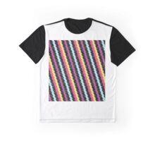 Dinamic Girlz Retro Zig Zag Pattern Graphic T-Shirt