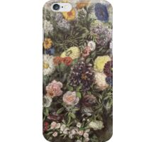 Eugene Delacroix  - Bouquet Of Flower.  Delacroix  - still life with flowers. iPhone Case/Skin