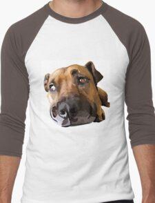 Puppy Dog Vector Portrait Men's Baseball ¾ T-Shirt