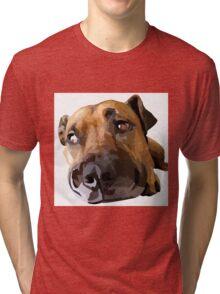 Puppy Dog Vector Portrait Tri-blend T-Shirt