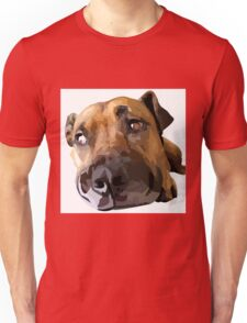 Puppy Dog Vector Portrait Unisex T-Shirt