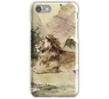 Eugene Delacroix  - A Lion In The Desert.  Delacroix ,  Lion. iPhone Case/Skin