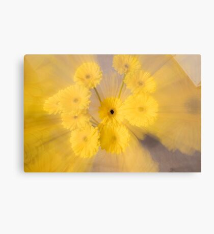 Yellow flower with zoom blur Canvas Print