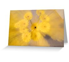 Yellow flower with zoom blur Greeting Card