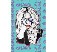 Over It Pout Photographic Print
