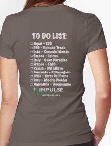To Do list Womens Fitted T-Shirt